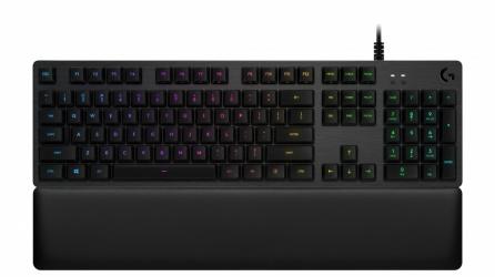Teclado Gamer Logitech G513 RGB, Teclado Mecánico, GX Blue, Alámbrico, Negro (Inglés)