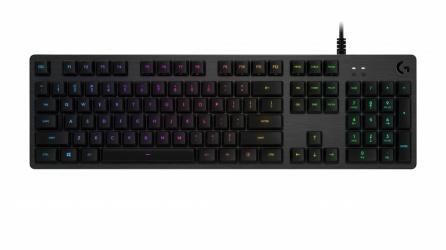 Teclado Gamer Logitech G512 LIGHTSYNC RGB, Teclado Mecánico, Alámbrico, Negro (Inglés)