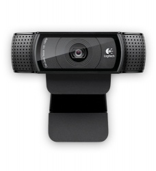 Logitech Webcam HD Pro C920 con Micrófono, Full HD, 1920 x 1080 Pixeles, USB 2.0, Negro