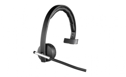 Logitech H820e Audífonos con Micrófono, Inalámbrico, Alcance 100m, USB, Negro
