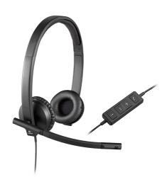 Logitech Audífonos con Micrófono H570e, Alámbrico, USB, Negro