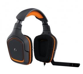 Logitech Audífonos Gamer G231 Prodigy, Alámbrico, 2 Metros + 12cm de Extension, 3.5mm, Negro/Naranja