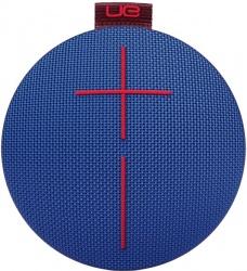 Logitech Bocina Portátil UE ROLL 2, Bluetooth, Inalámbrico, Azul/Rojo - Resistente al Agua