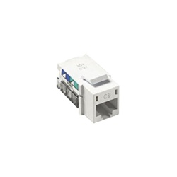 Lutron Jack de Red Cat6, RJ-45, Blanco