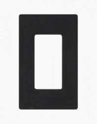 Lutron Placa de Pared CW-1-BL de 1 Puerto, Negro