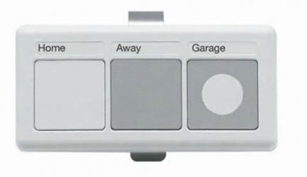 Lutron Control Remoto para Iluminación y Puertas de 3 Botones, RF Inalámbrico, Blanco