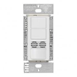 Lutron Interruptor de Luz Inteligente con Sensor de Ocupación MS-B202-WH, 6A, 120V, Blanco