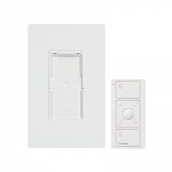 Lutron Kit Regulador Inteligente con Control Remoto PJ2-WALL-WH-L01, Blanco