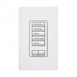 Lutron Atenuador de Luz Inteligente RRD-W5BRL-WH, Programable, Blanco
