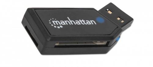 Manhattan Lector de Memoria USB 2.0, 24 en 1, 480 Mbit/s, Negro
