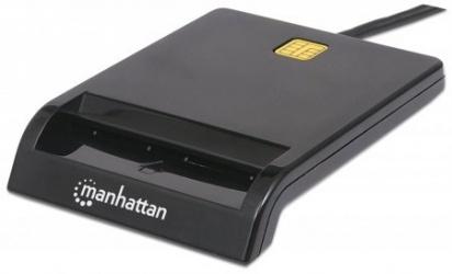 Manhattan Lector de Memoria Inteligente USB 2.0, Negro