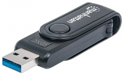 Manhattan Lector de Memoria, USB 3.0, 5000 Mbit/s, Negro