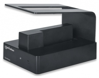 Manhattan QuickDock SuperSpeed 3.5''/2.5'', SATA, USB 3.0, Negro