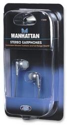 Manhattan 173056 Audifonos Estéreo, Alámbrico, 3.5'', Plata