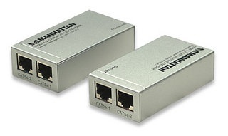 Manhattan Adaptador HDMI, Extendedor de Señal, Gris