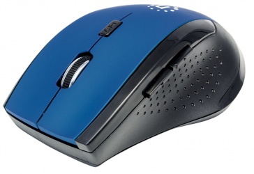 Mouse Manhattan Óptico 179294, RF Inalámbrico, 1600 DPI, Negro/Azul