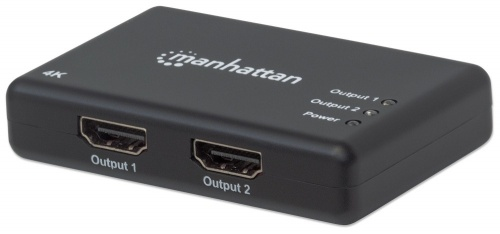 Manhattan Divisor de Video HDMI, 2x HDMI, Negro