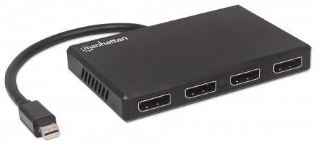 Manhattan Divisor de Video Mini DisplayPort Macho - 4x DisplayPort Hembra, Negro