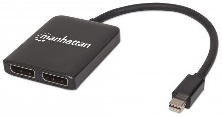 Manhattan Divisor de Video Mini DisplayPort Macho - 2x DisplayPort Hembra, Negro