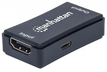 Manhattan Extensor de Video HDMI Alámbrico, 2 Puertos HDMI, hasta 45 Metros