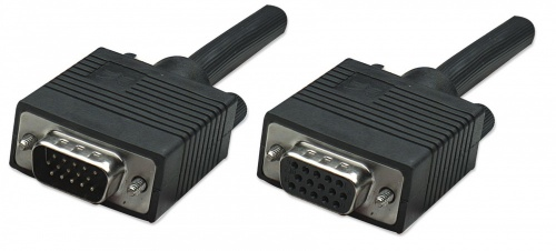 Manhattan Cable para Monitor SVGA 8mm, HD15 Macho - HD15 Hembra, 1.8 Metros, Negro
