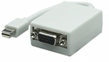 Manhattan Adaptador Mini-DisplayPort Macho - VGA Hembra, Blanco