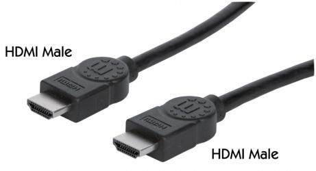 Manhattan Cable HDMI de Alta Velocidad con Canal Ethernet, HDMI Macho - HMDI Macho, 3 Metros, Negro