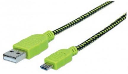Manhattan Cable USB A Macho - USB B Macho, 1.8 Metros, Verde