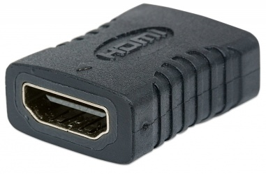 Manhattan Cople HDMI A Hembra - HDMI A Hembra, Conexión Recta, Negro