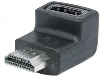 Manhattan Adaptador HDMI Macho - HDMI Hembra, Negro