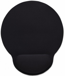 Mousepad Manhattan con Descansa Muñecas de Gel, 20x24cm, Grosor 4mm, Negro