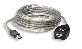Manhattan Cable USB Macho - USB Hembra, 5 Metros, Plata