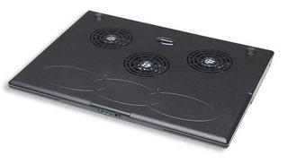Manhattan Base para Laptops con 3 Ventiladores, USB 2.0, Negro