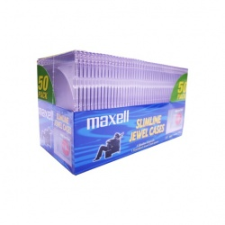 Maxell Cajas para CD, Transparente, 120mm, 50 Piezas