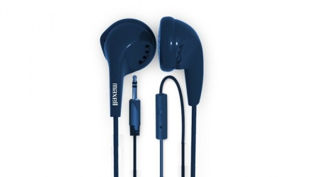 Maxell Audifonos EB-MIC, Alámbrico, 1 Metros, 3.5mm, Azul
