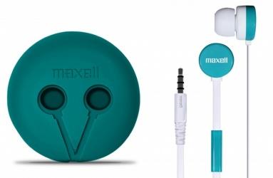 Maxell Audífonos Intrauriculares con Micrófono WR-360, Alámbrico, 1.2 Metros, Verde