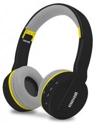 Maxell Audífonos con Mifrófono MXH-BT800, Bluetooth, Inalámbrico, 3.5 mm, Negro/Gris