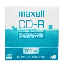Maxell Disco Virgen para CD, CD-R, 48x, 1 Disco (648232)