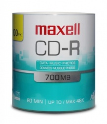 Maxell Torre de Discos Virgenes, CD-R, 48x, 700MB, 100 Piezas