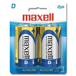 Maxell Pilas Alcalinas D, 1.5V, 2 Piezas