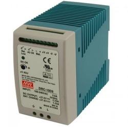 Mean Well Fuente de Poder para Alarma DRC-100B, Entrada 90 - 264V, Salida 27.6V