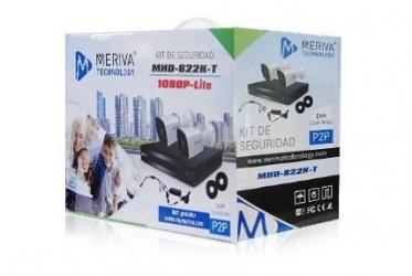 Meriva Security Kit de Vigilancia MHD-822K-T de 2 Cámaras y 4 Canales, con Grabadora DVR