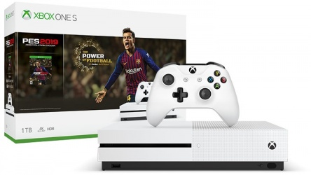 Microsoft Xbox One S, 1TB, WiFi, 2x HDMI, Blanco - Pro Evolution Soccer 2019