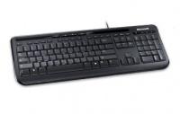 Teclado Microsoft 600, Alámbrico, USB, Negro, Inglés