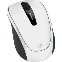 Mouse Microsoft BlueTrack Wireless Mobile 3500, RF Inalámbrico, USB, 1000 DPI, Blanco