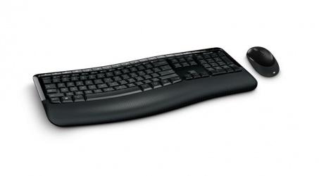 Kit de Teclado y Mouse Microsoft Wireless Comfort Desktop 5050, Inalámbrico, USB, Negro (Español)