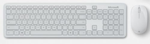 Teclado y Mouse Microsoft QHG-00033, Inalámbrico, Bluetooth, Blanco (Español)