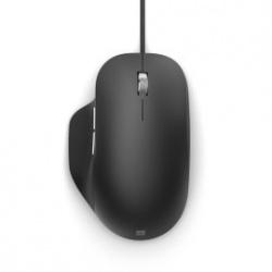 Mouse Microssoft BlueTrack Ergonomic, Alámbrico, USB, Negro