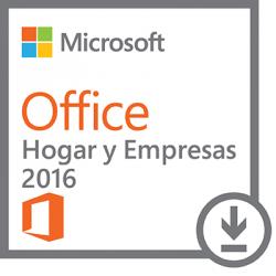 Microsoft Office Hogar y Empresas 2016, 32/64-bit, 1 PC, Plurilingüe, Windows ― Producto Digital Descargable