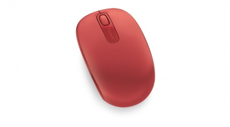 Microsoft Wireless Mobile Mouse 1850, Inalámbrico, USB, 1000DPI, Rojo